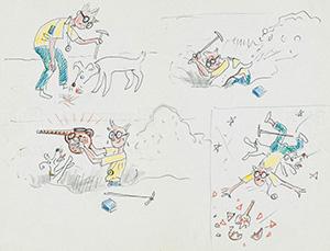 Roger Parry, dessin