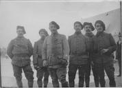La garde de Corfou par le 6ème bataillon de chasseurs alpins (10 janvier - 10 avril 1916). Officiers et soldats du service de censure à la poste grecque