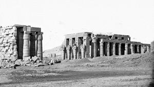Aymard de Banville, Ramesseum, Thèbes, Egypte, 1863-1864.
