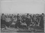 Arrivée du 2e régiment de zouaves sur le camp d'aviation de Salonique (18 novembre 1915). Camp d'aviation : Le 2ème régiment de zouaves dresse ses tentes