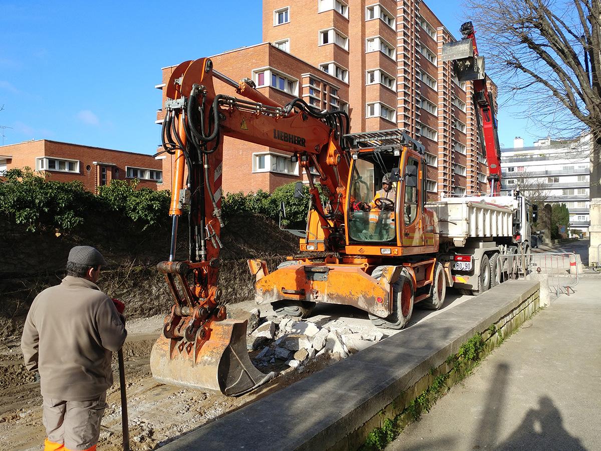 Des travaux de voirie sont actuellement menés par la ville de Charenton dans la rue du Séminaire de Conflans